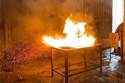 Lithium Batterij Brandblusser - Demo1