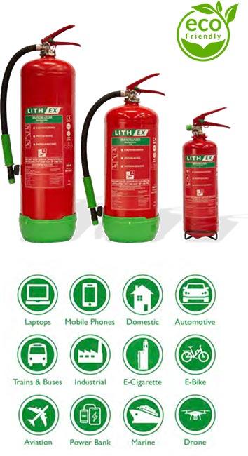 Lithium Batterij Brandblusser - Lithex AVD Handblusser